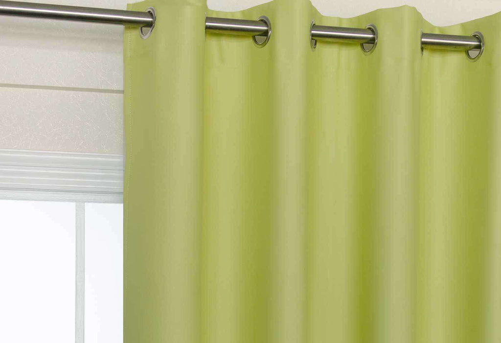 Lime Green Eyelet Blockout Curtain 140x221cm