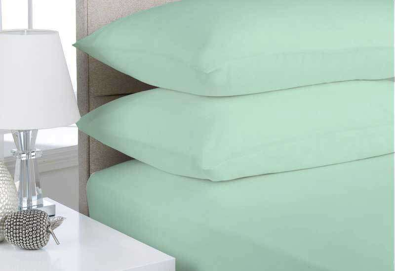 Mega King Size Mint Color Egyptian Cotton Flannelette Sheet Set (3PCS)
