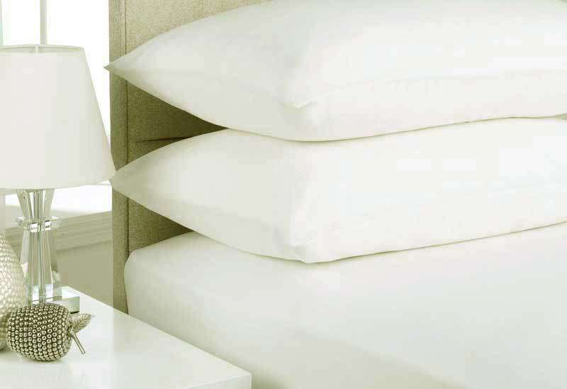 Queen Size White Color Egyptian Cotton Flannelette Sheet Set (3PCS)