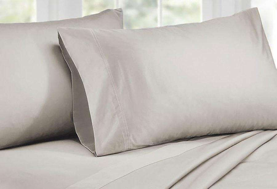 Queen Size 1000TC Cotton Rich Sheet Set (Silver Color)