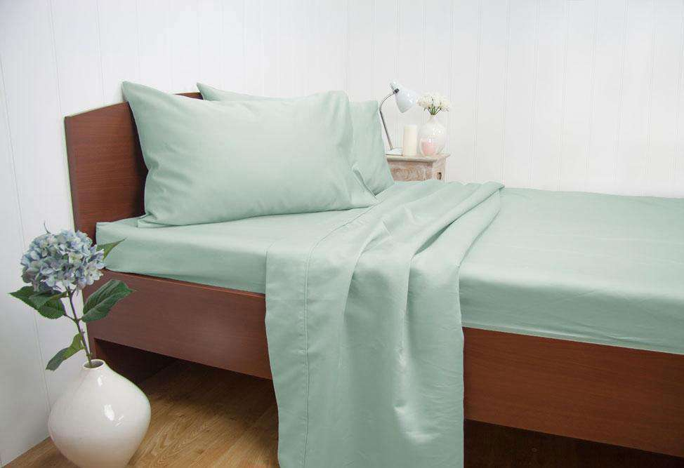 Queen Size 1500TC Cotton Rich Sheet Set (Mint Color)
