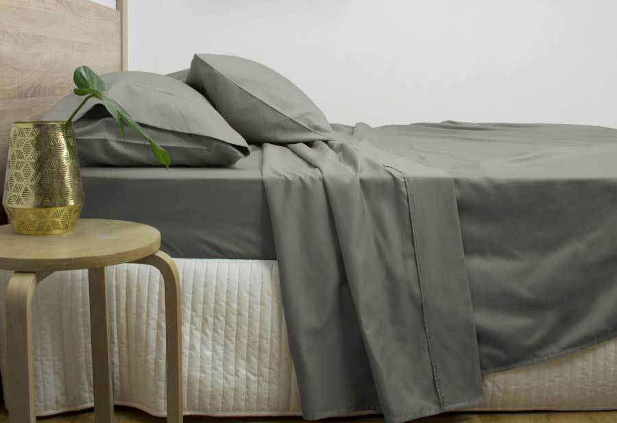 Queen Size 3000TC Cotton Rich Sheet Set (Charcoal Color)