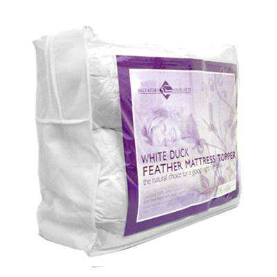 Single Mattress Topper - 100% Duck Feather - Desirable Home Living