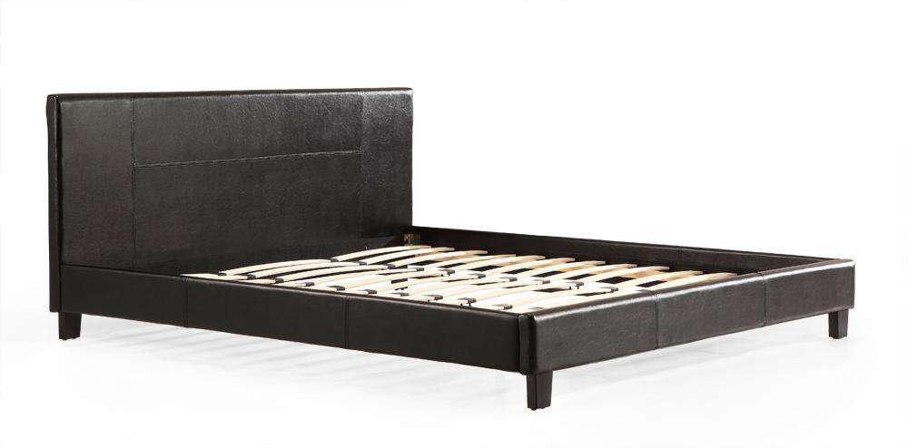 King PU Leather Bed Frame Black - Desirable Home Living