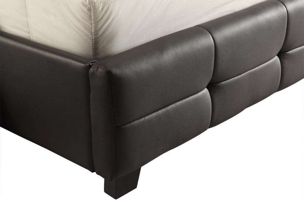 King PU Leather Deluxe Bed Frame Black - Desirable Home Living