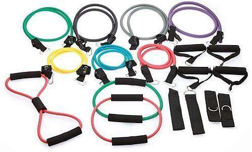 19PC Resistance Excercise Fitness Bands Tubes Kit Yoga Set