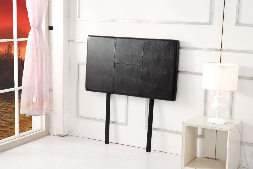 PU Leather Single Bed Headboard Bedhead - Black - Desirable Home Living