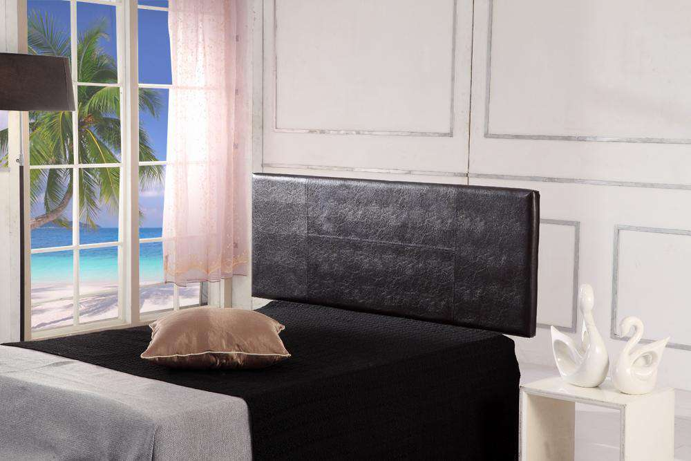 PU Leather Double Bed Headboard Bedhead - Brown