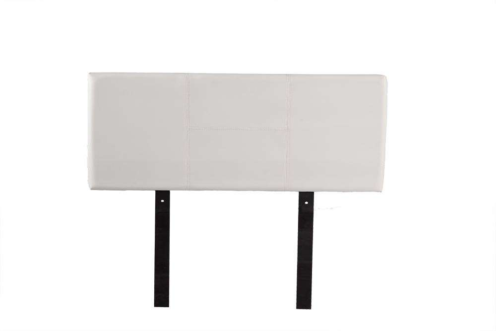 PU Leather Double Bed Headboard Bedhead - White - Desirable Home Living
