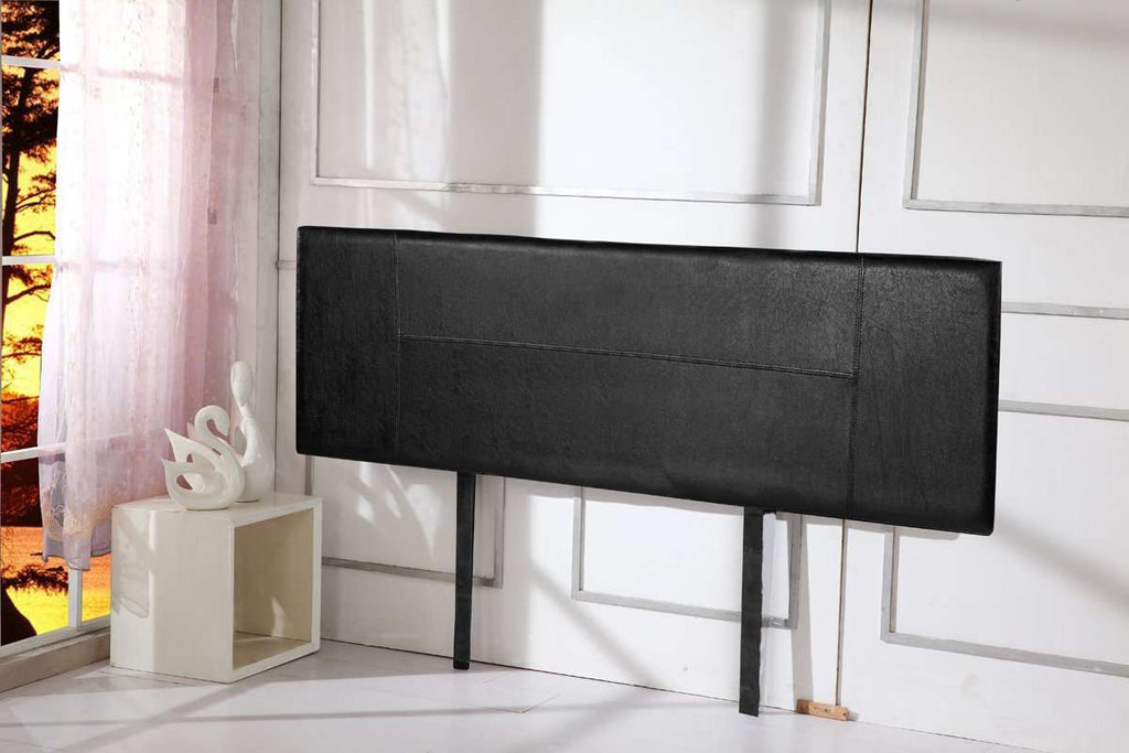 PU Leather King Bed Headboard Bedhead - Black - Desirable Home Living