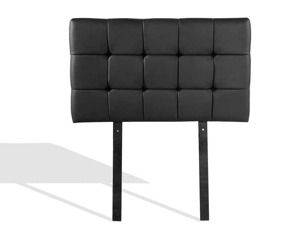 PU Leather Single Bed Deluxe Headboard Bedhead - Black - Desirable Home Living