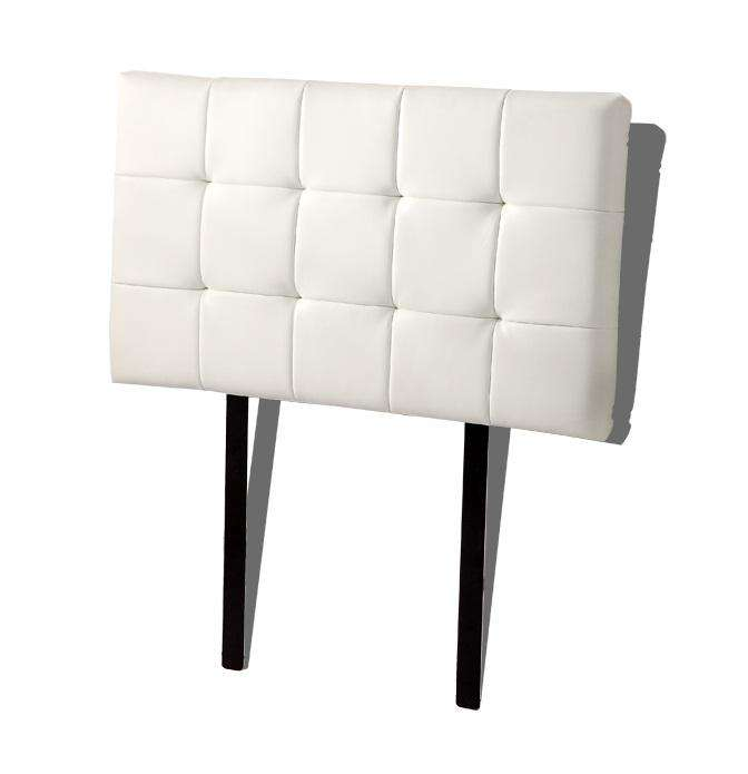PU Leather Single Bed Deluxe Headboard Bedhead - White - Desirable Home Living