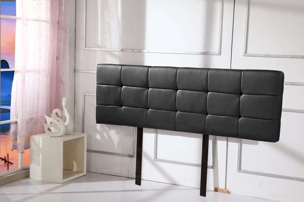 PU Leather King Bed Deluxe Headboard Bedhead - Black - Desirable Home Living