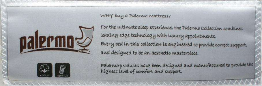 Palermo Queen Luxury Latex Pillow Top Topper Spring Mattress - Desirable Home Living