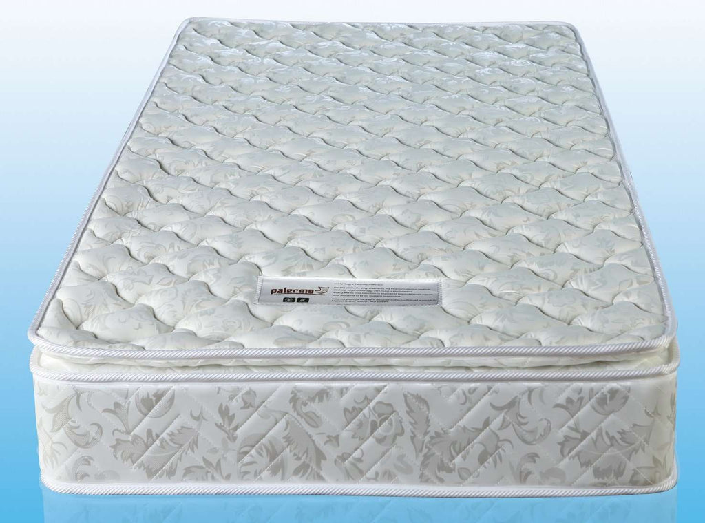 PALERMO Single Luxury Latex Pillow Top Topper Spring Mattress - Desirable Home Living