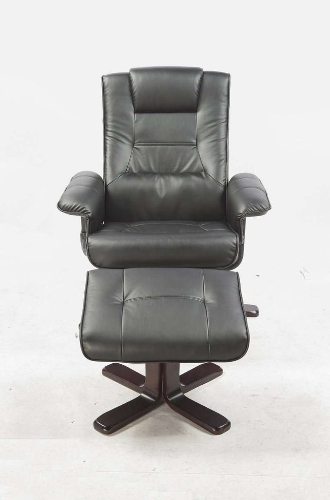 PU Leather Massage Chair Recliner Ottoman Lounge Remote - Desirable Home Living