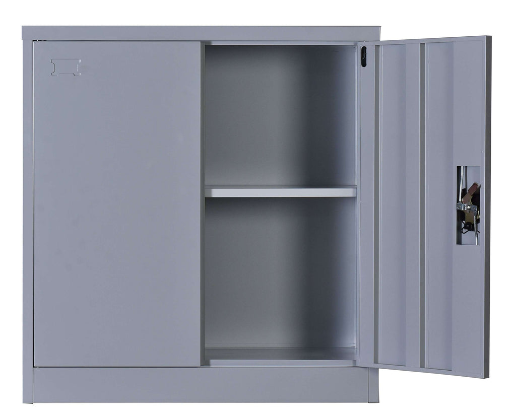 Two-Door Shelf Office Gym Filing Storage Locker Cabinet Safe - Desirable Home Living