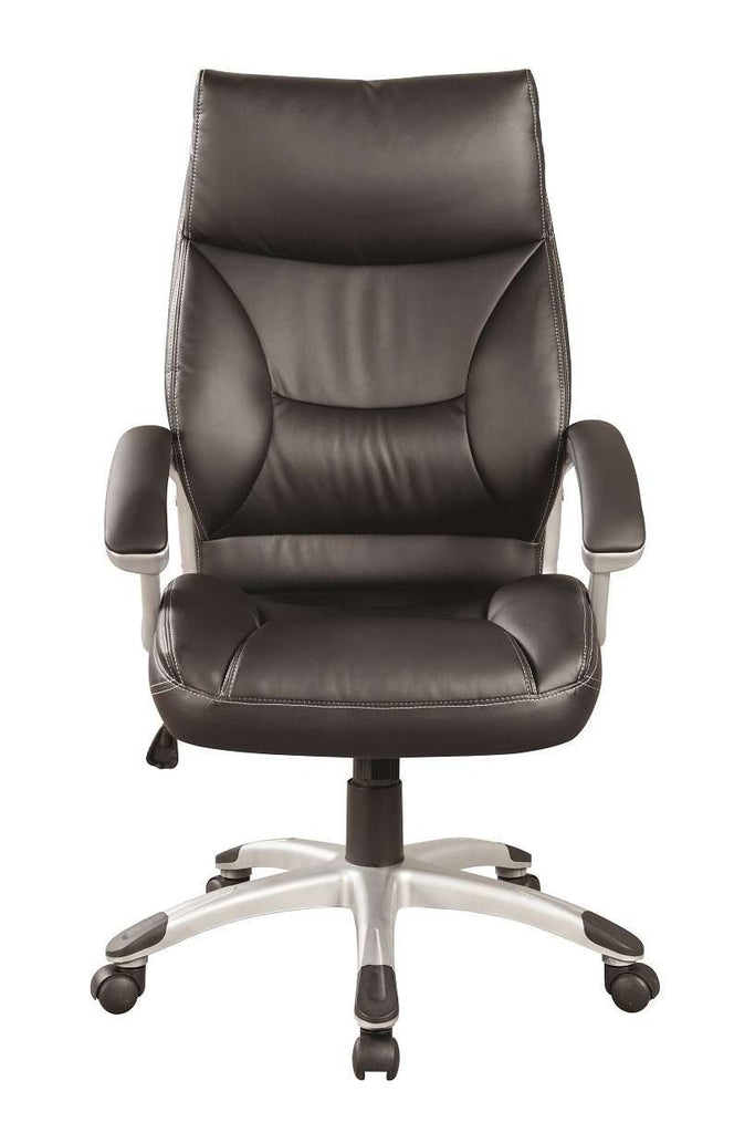 PU Leather Office Chair Executive Padded Black - Desirable Home Living