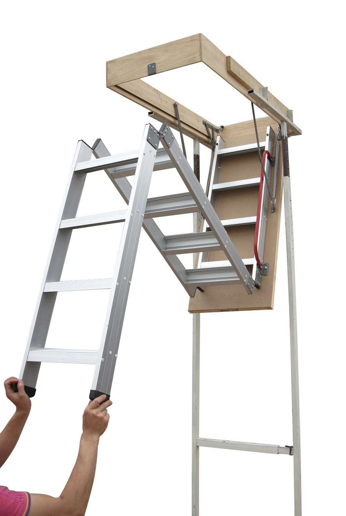 Deluxe Aluminium Attic Loft Ladder - 2700mm to 3050mm