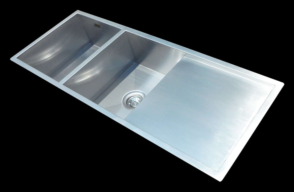 1160x460mm Handmade Stainless Steel Undermount / Topmount Kitchen Laundry Sink with Waste - Desirable Home Living