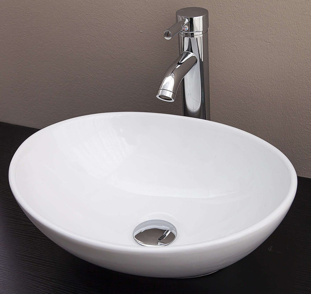 Above Counter Bathroom Vanity Oval Ceramic Basin