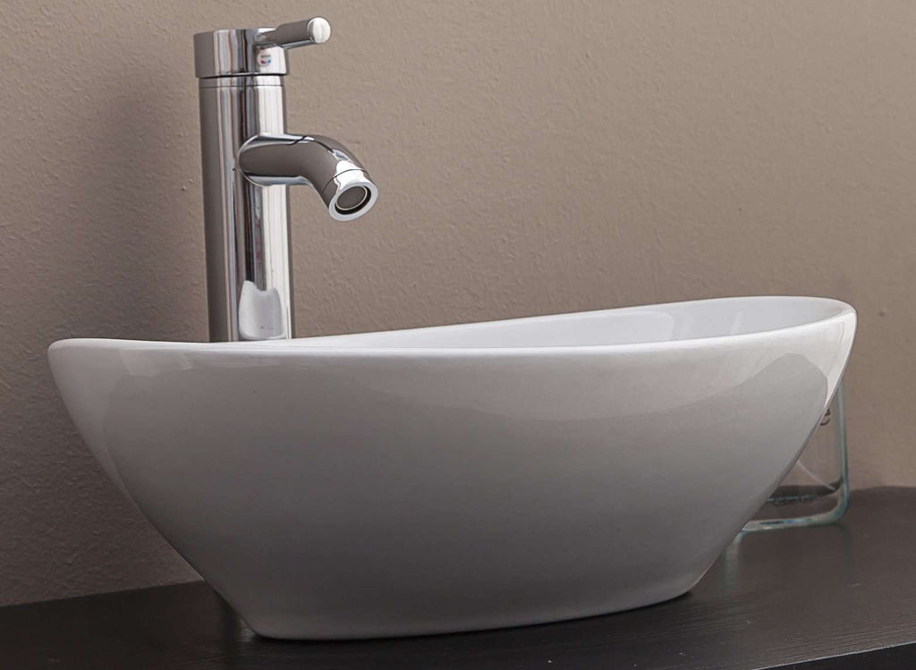Above Counter Bathroom Vanity Oval Ceramic Basin - Desirable Home Living