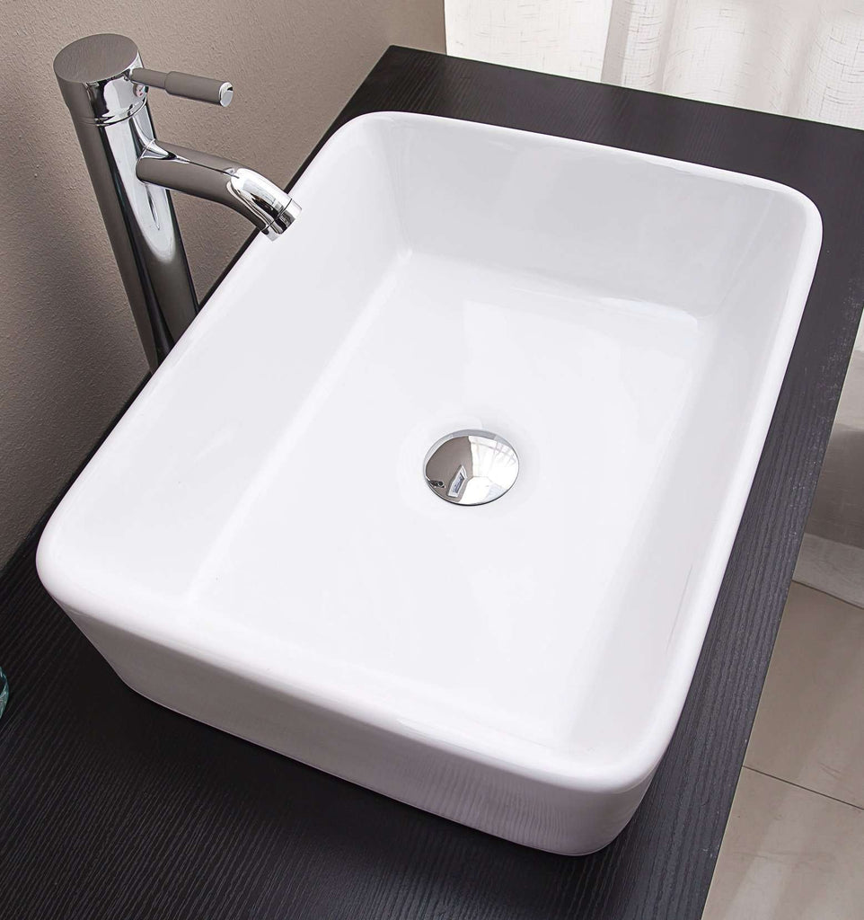 Above Counter Bathroom Vanity Square Basin - Desirable Home Living