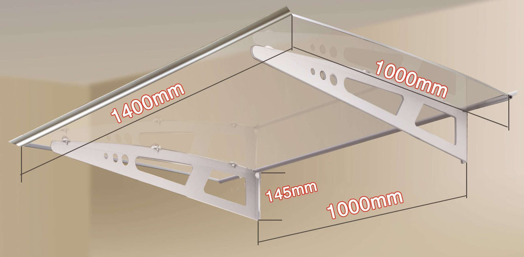 DIY Outdoor Awning Cover 1.4m x 1m Polycarbonate