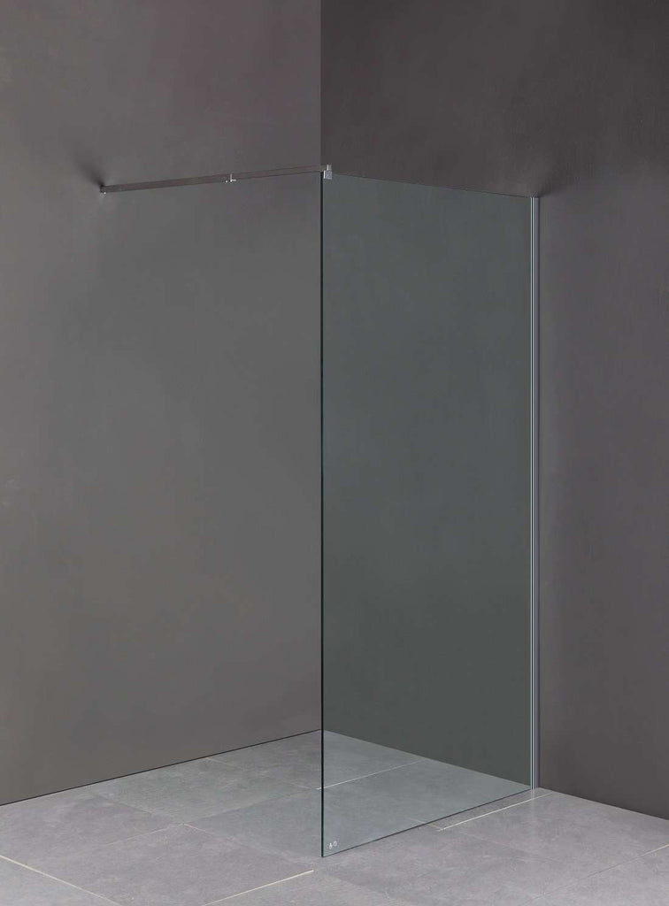 1100 x 2000mm Frameless 10mm Safety Glass Shower Screen - Desirable Home Living