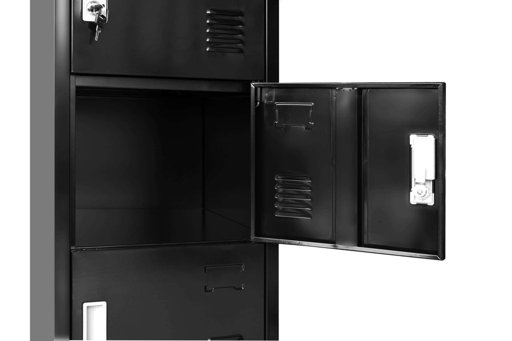 Six-Door Office Gym Shed Storage Lockers - Desirable Home Living