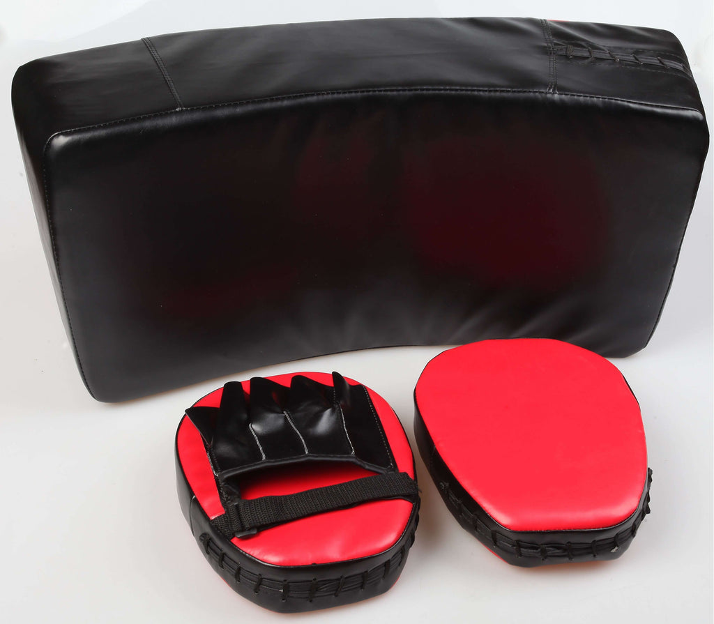Kicking Boxing Sparring Shield & Punching Pad Mitts Combo - Desirable Home Living