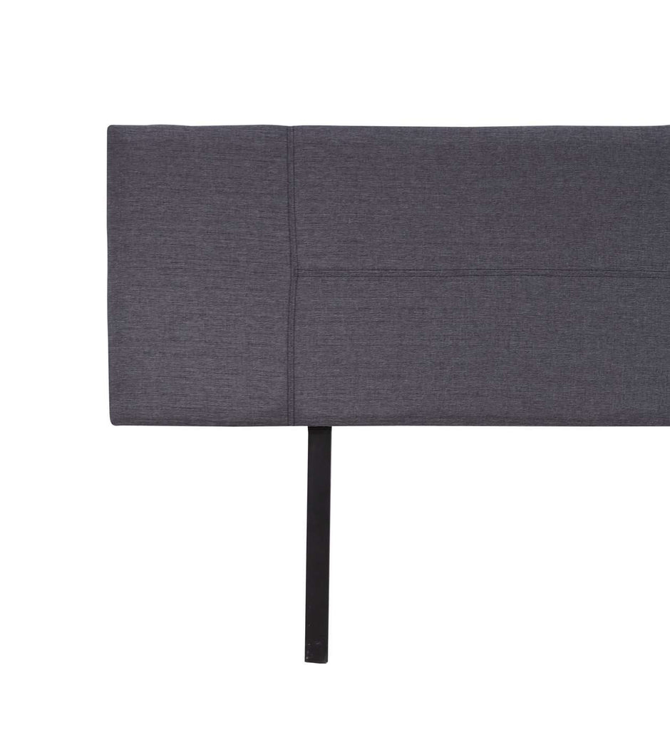 Linen Fabric King Bed Headboard Bedhead - Grey - Desirable Home Living