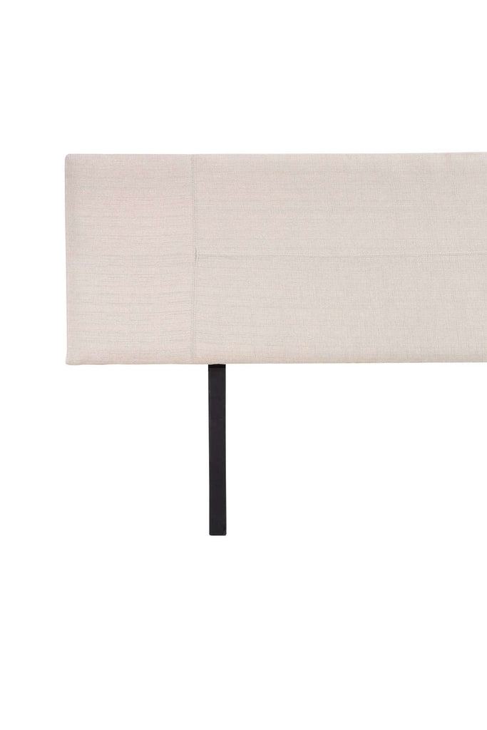 Linen Fabric King Bed Headboard Bedhead - Beige - Desirable Home Living