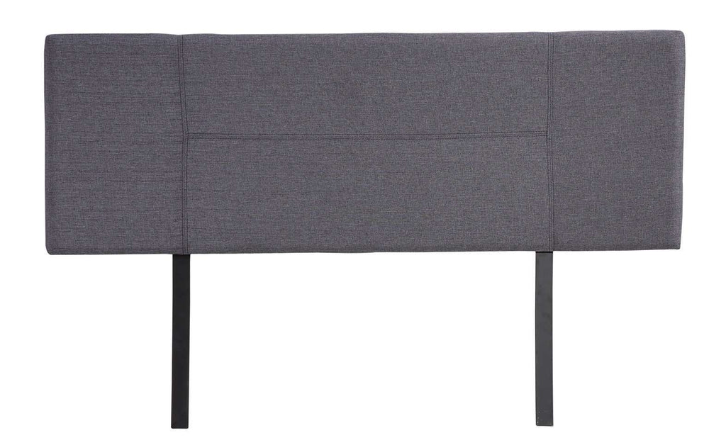 Linen Fabric Double Bed Headboard Bedhead - Grey - Desirable Home Living