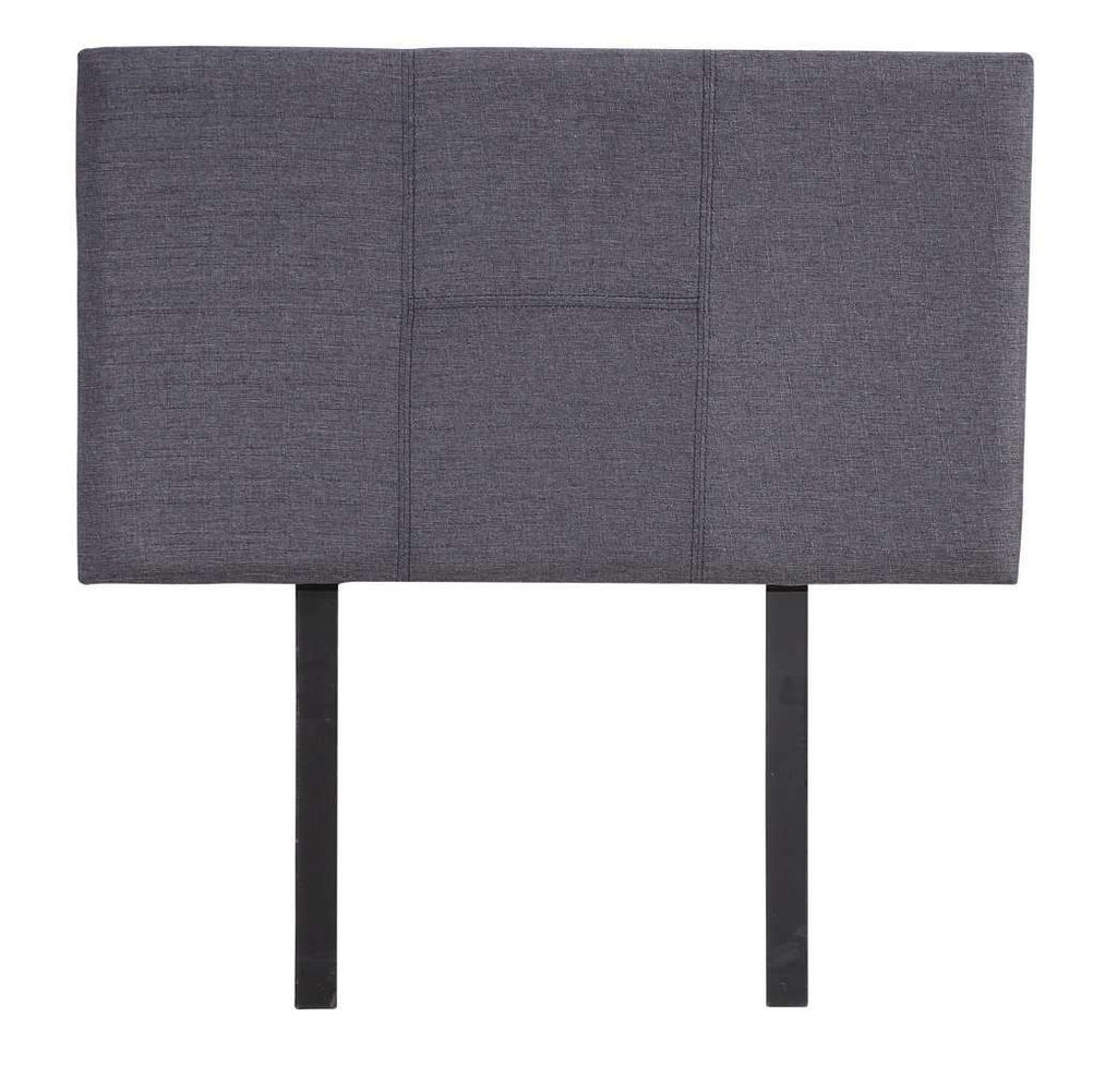 Linen Fabric Single Bed Headboard Bedhead - Grey - Desirable Home Living