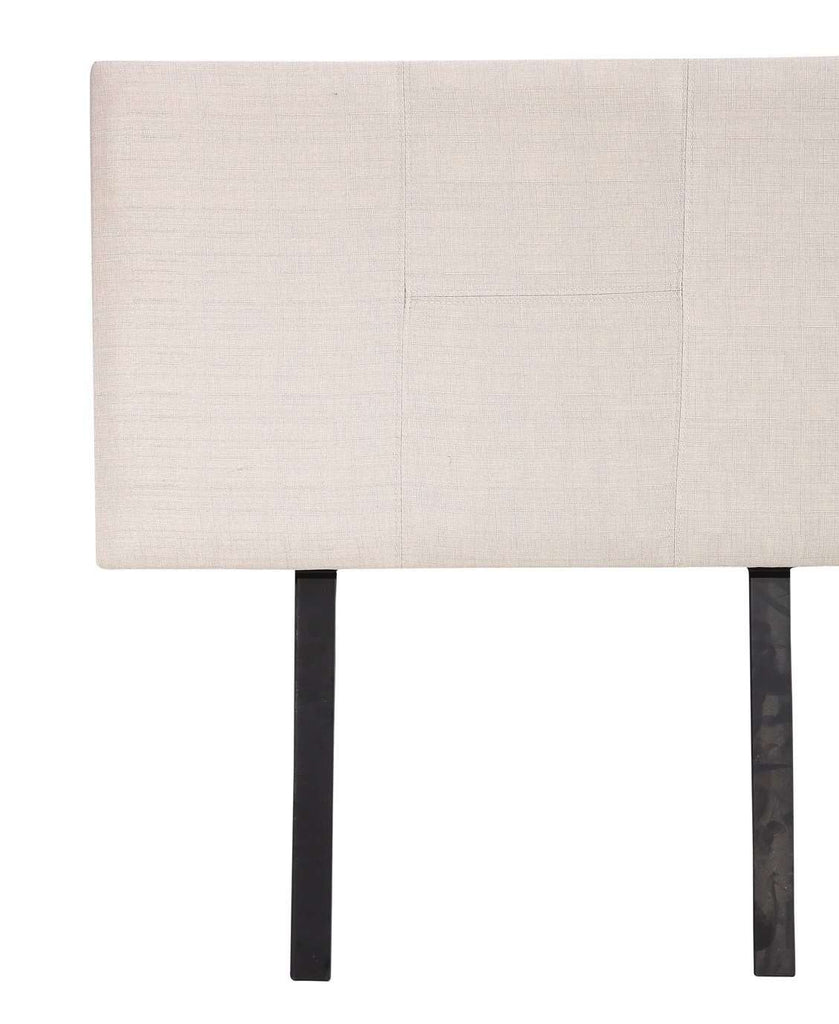 Linen Fabric Single Bed Headboard Bedhead - Beige - Desirable Home Living