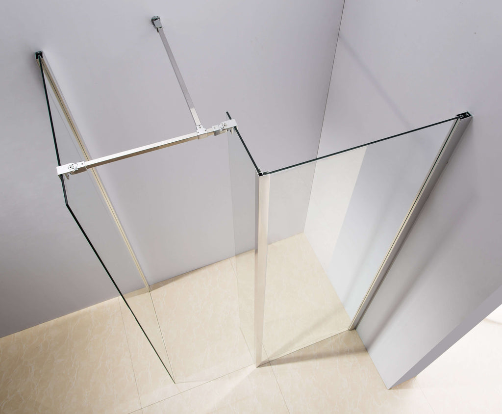1200x800mm Walk in Shower Enclosure Safety Glass Shower By Della Francesca - Desirable Home Living