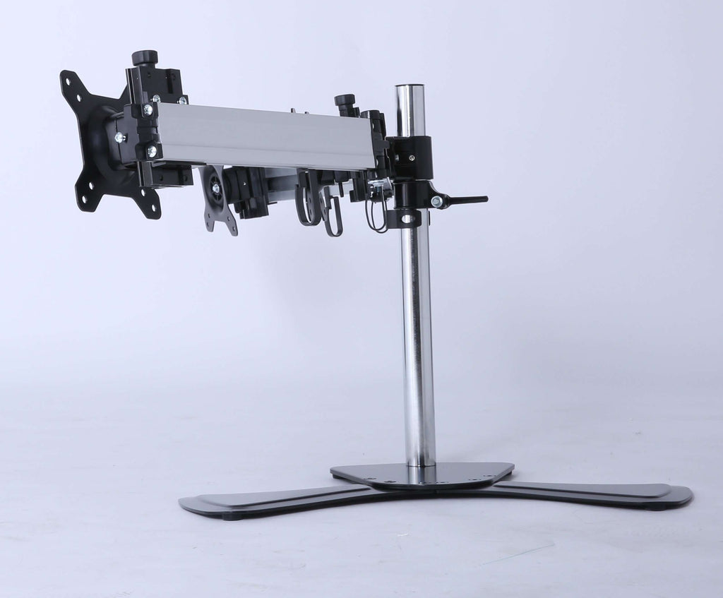 Triple Tilt LCD Monitor Mount Freestanding Desktop Stand - Desirable Home Living