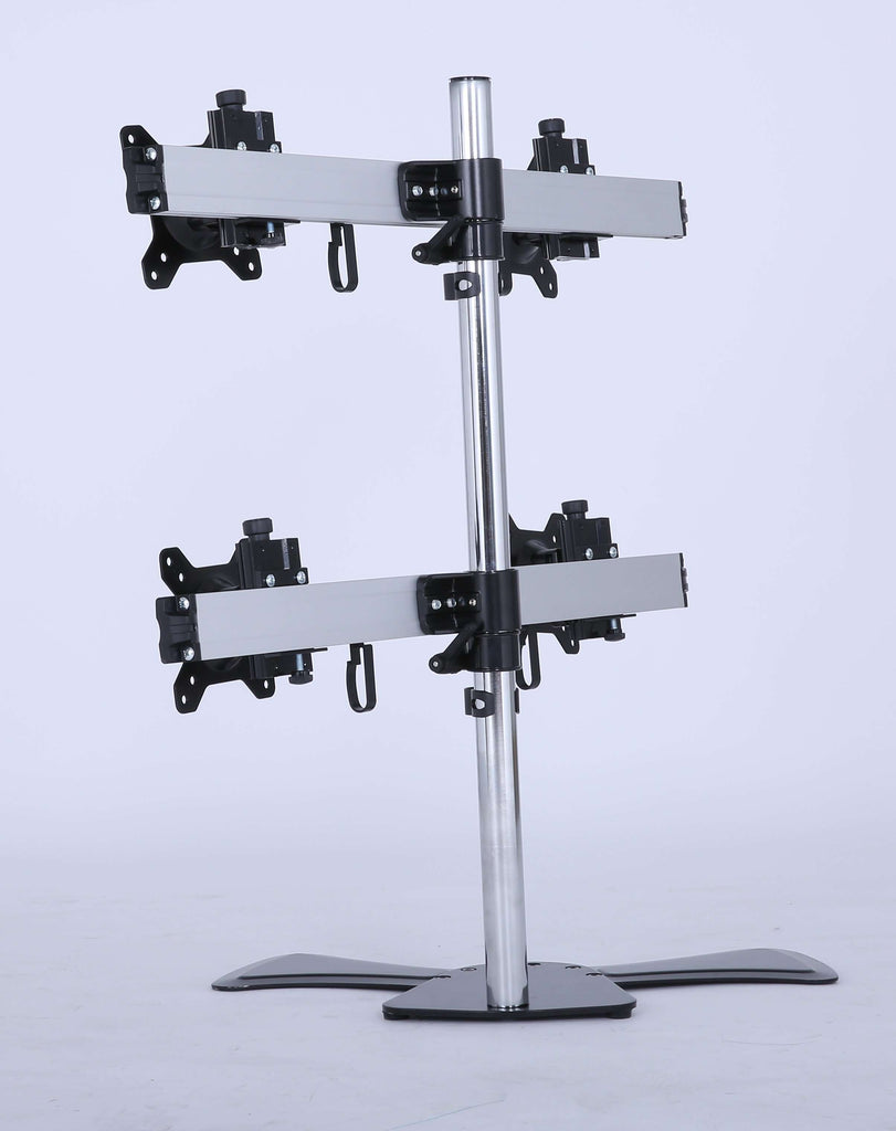 Quad/4/Four XL LCD Monitor Desktop Freestanding Mount Stand - Desirable Home Living