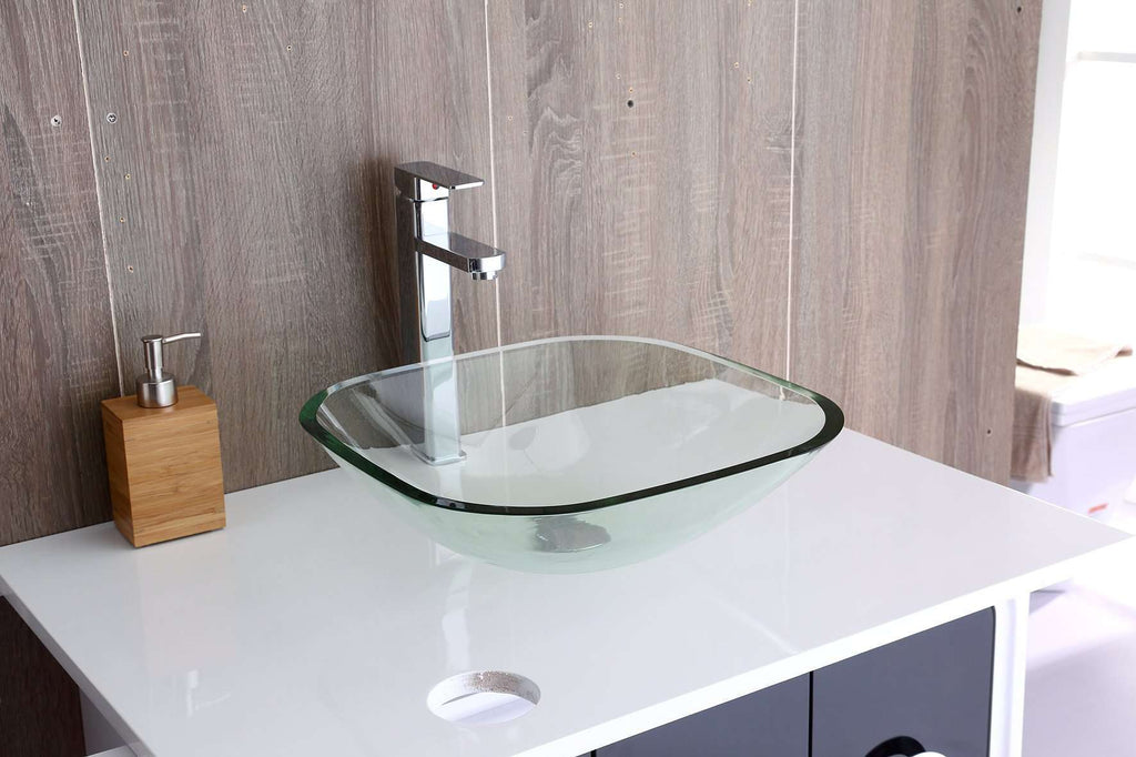 12mm Tempered Glass Above Countertop Basin for Vanity - Desirable Home Living
