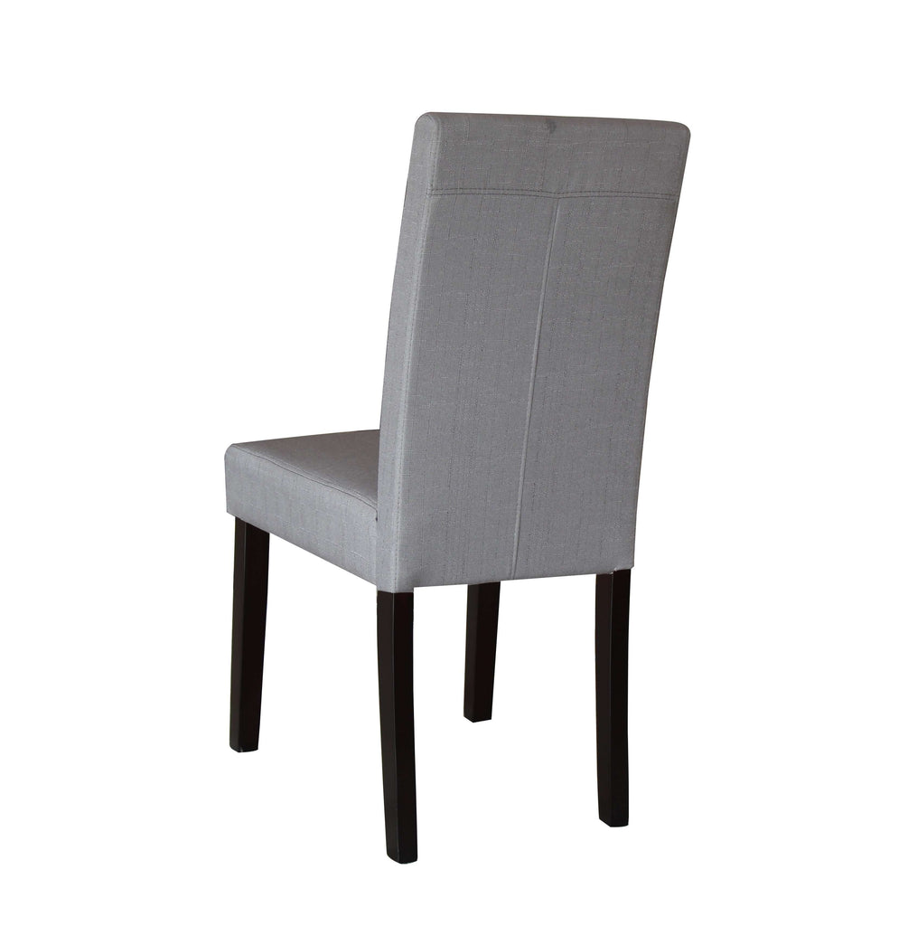 2 x Premium Fabric Linen Palermo Dining Chairs High Back - Light Slate Grey - Desirable Home Living