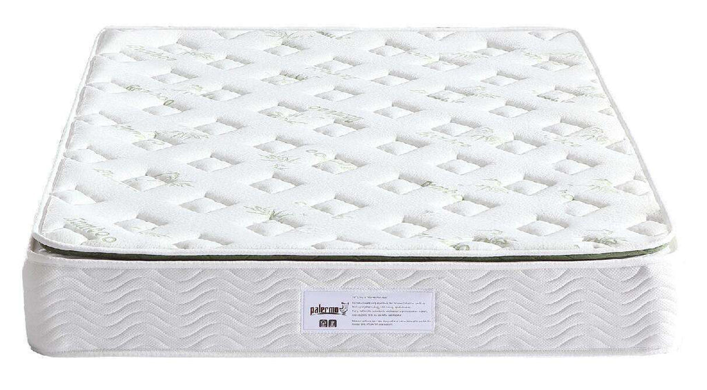 Palermo Double Luxury Latex Pillow Top Topper Spring Mattress - Desirable Home Living