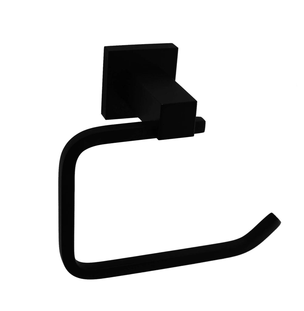 Classic Toilet Paper Holder Electroplated Matte Black Finish