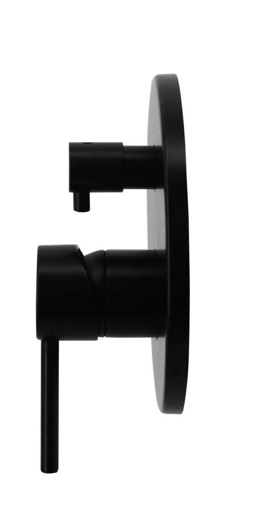 Shower Bath Mixer Diverter Tap WATERMARK Approved Electroplated Matte Black - Desirable Home Living