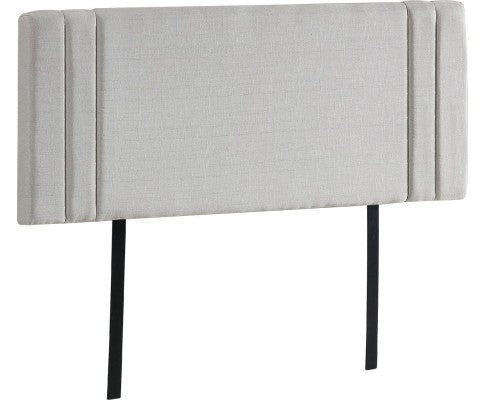 Linen Fabric Double Bed Deluxe Headboard Bedhead - Beige