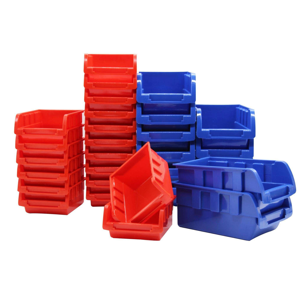 30 Bin Wall Mounted Rack Storage Organiser