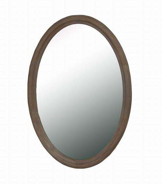 Wash White Oval Mirror