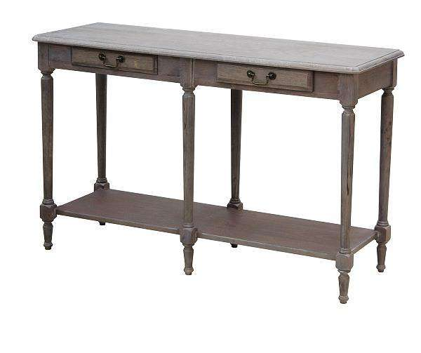 Wash White Louis XVI Console Table