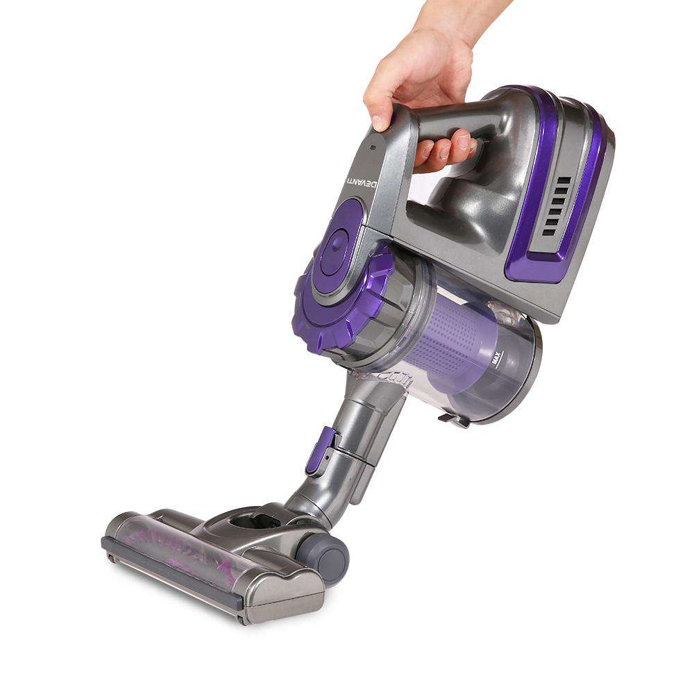Devanti 150 Cordless Handheld Stick Vacuum Cleaner 2 Speed   Purple And Grey