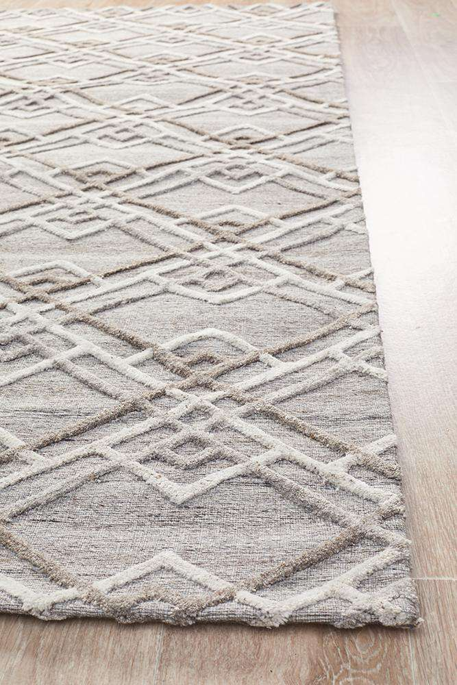 Visions Winter Silver Stream Modern Rug